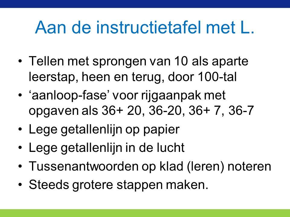 Aan de instructietafel met L.