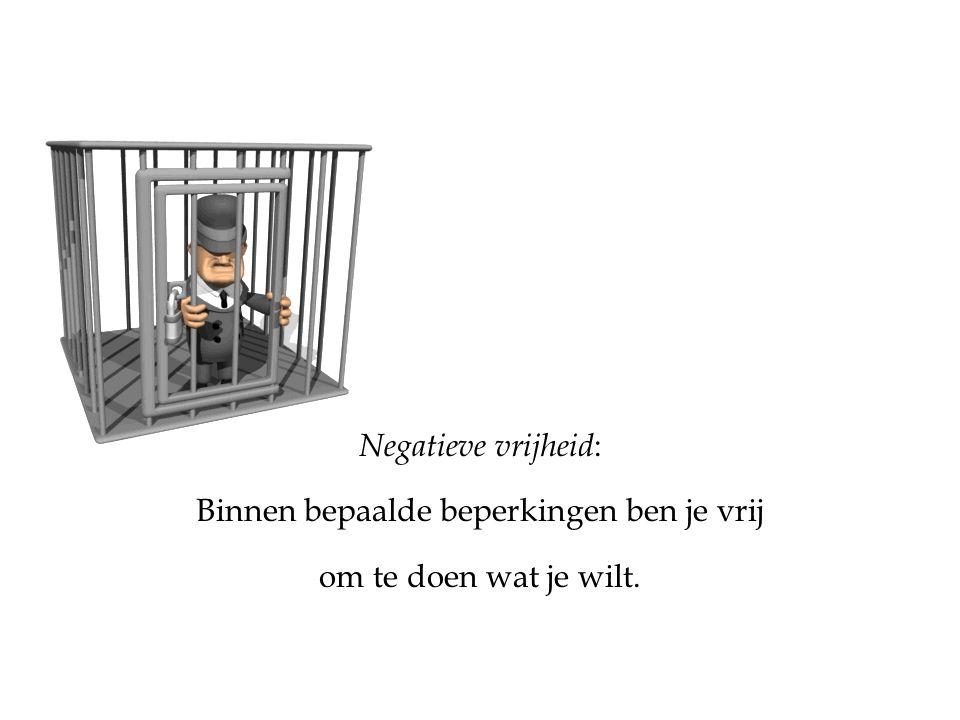 Binnen bepaalde beperkingen ben je vrij