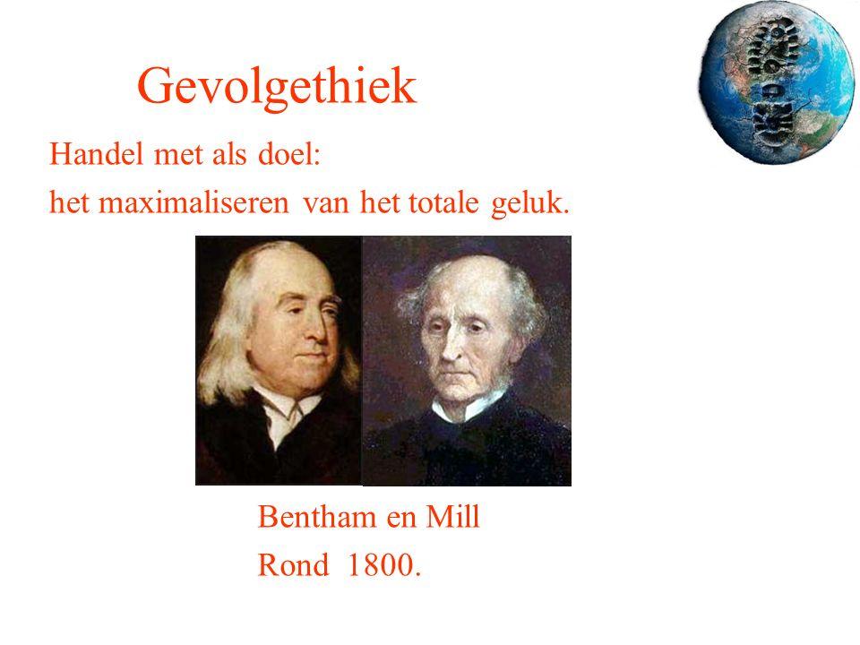 Gevolgethiek Handel met als doel: