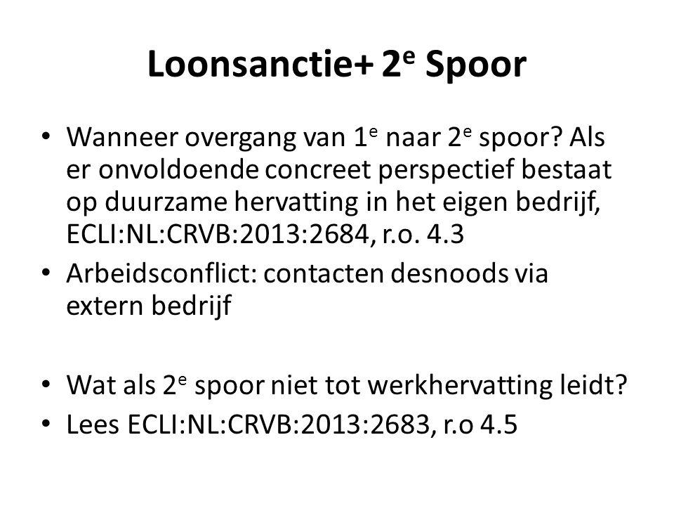 Loonsanctie+ 2e Spoor