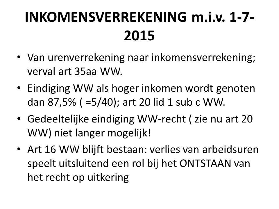 INKOMENSVERREKENING m.i.v. 1-7-2015