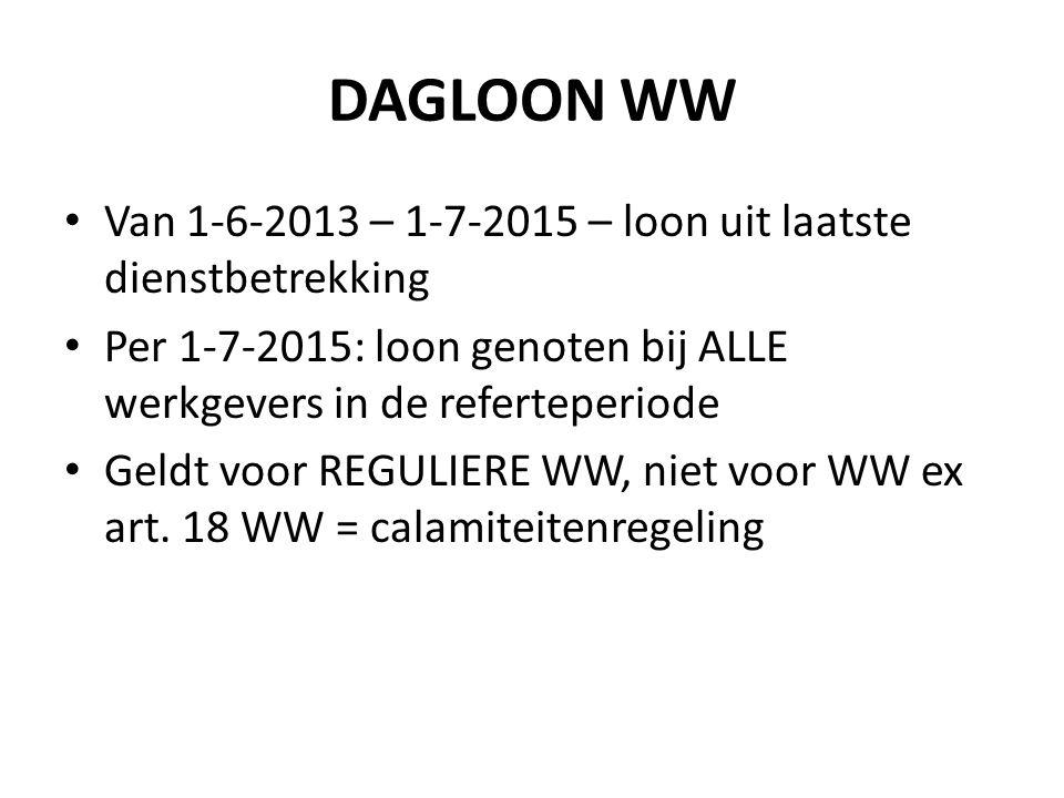 DAGLOON WW Van 1-6-2013 – 1-7-2015 – loon uit laatste dienstbetrekking