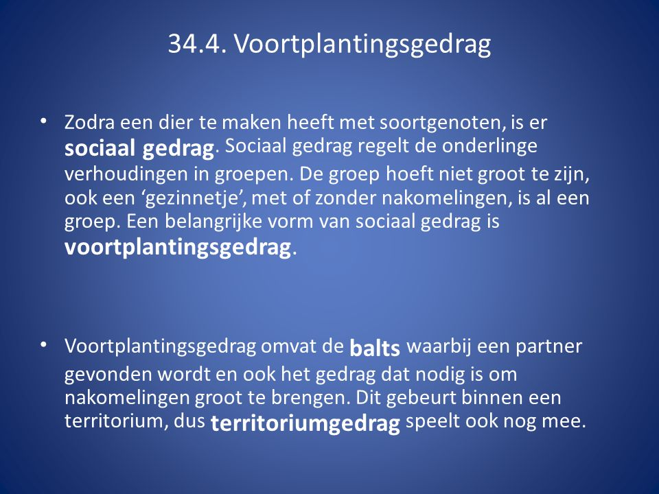 34.4. Voortplantingsgedrag