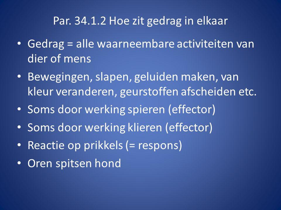 Par. 34.1.2 Hoe zit gedrag in elkaar