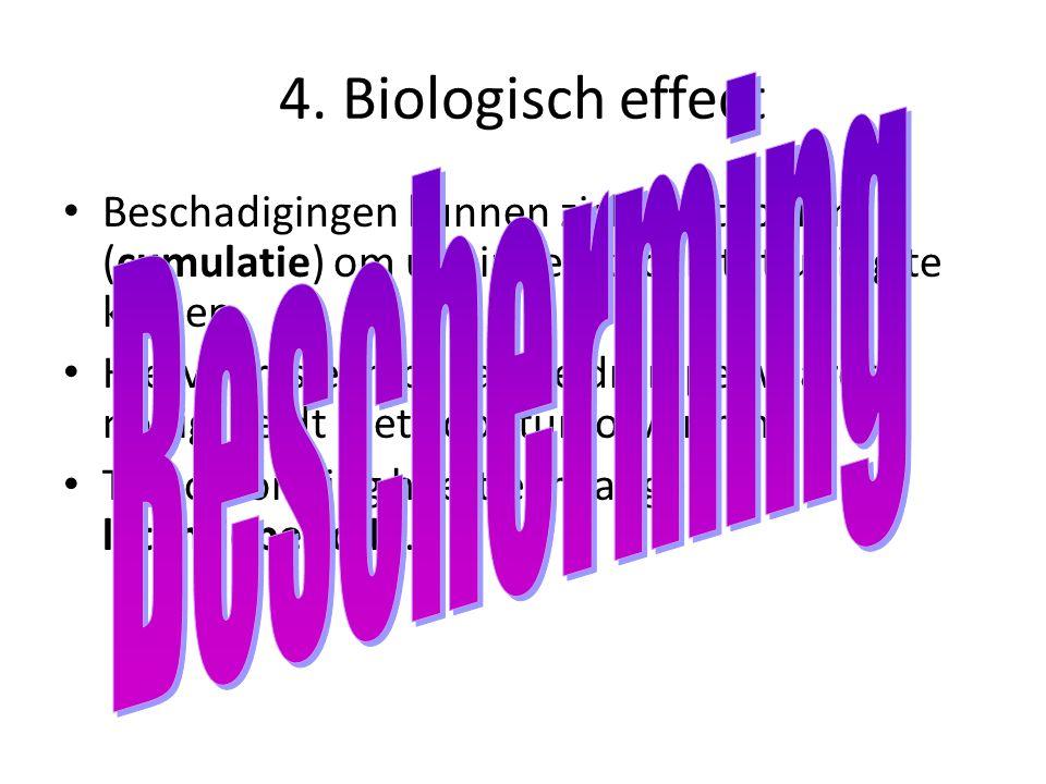 4. Biologisch effect Bescherming