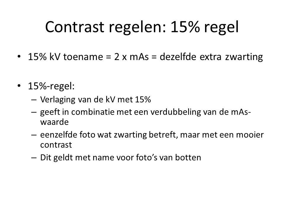 Contrast regelen: 15% regel