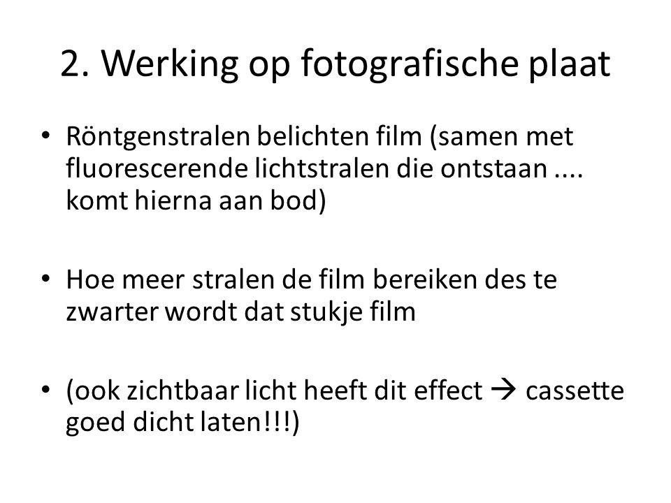 2. Werking op fotografische plaat