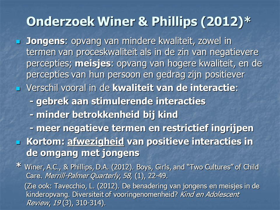 Onderzoek Winer & Phillips (2012)*