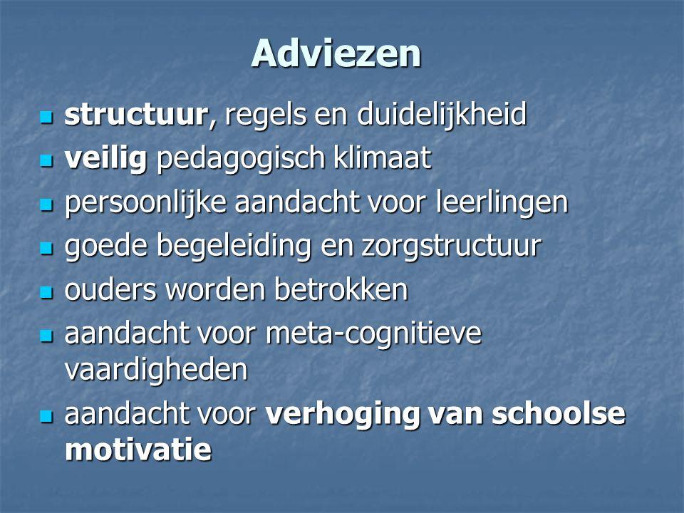 Adviezen structuur, regels en duidelijkheid veilig pedagogisch klimaat