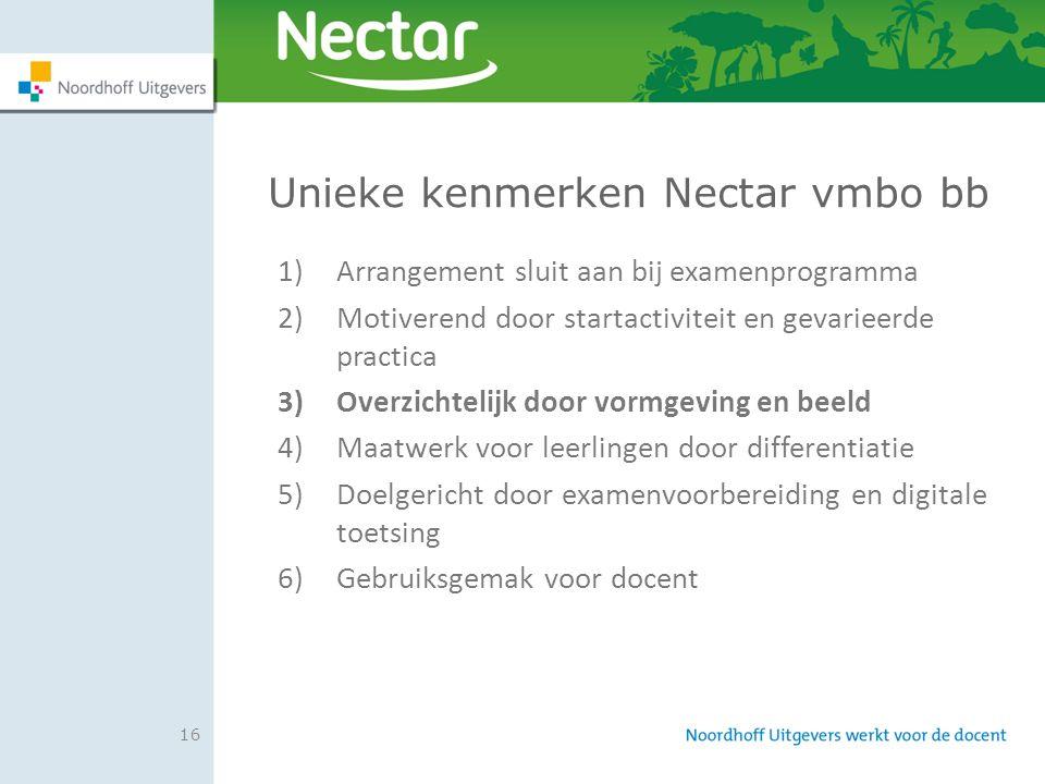 Unieke kenmerken Nectar vmbo bb