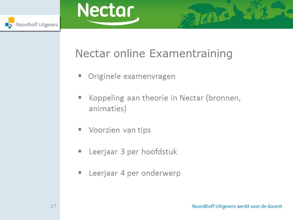 Nectar online Examentraining