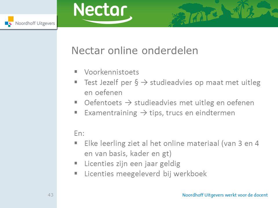 Nectar online onderdelen