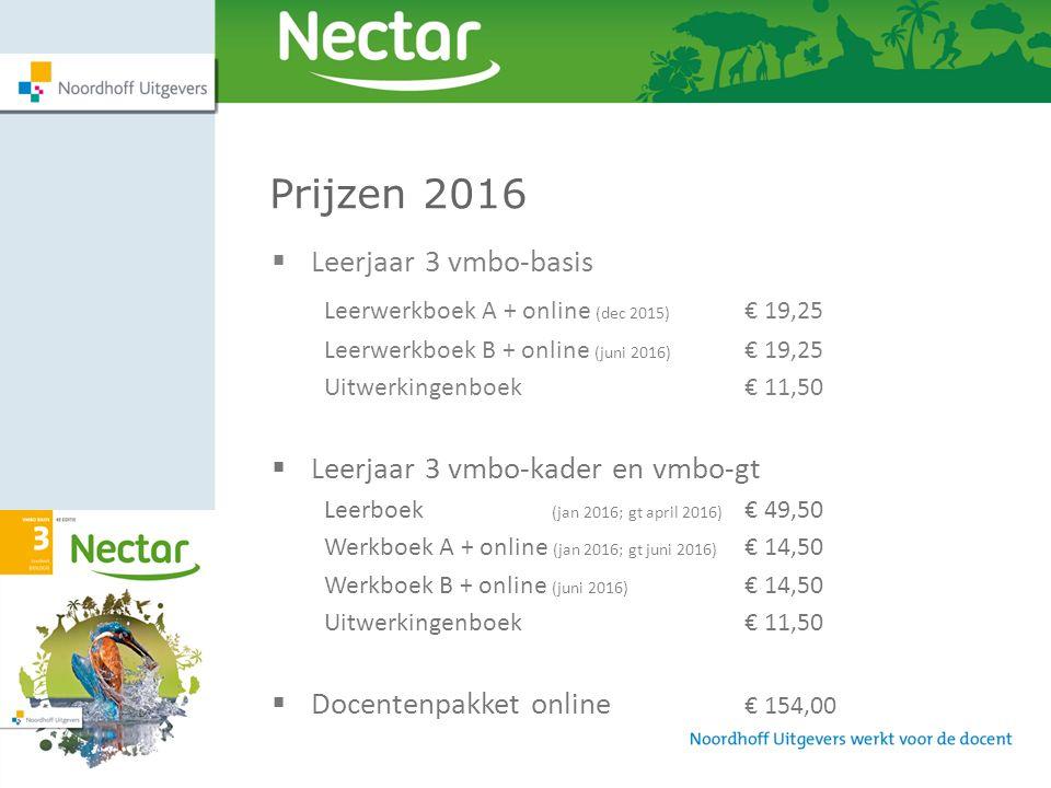 Prijzen 2016 Leerjaar 3 vmbo-basis