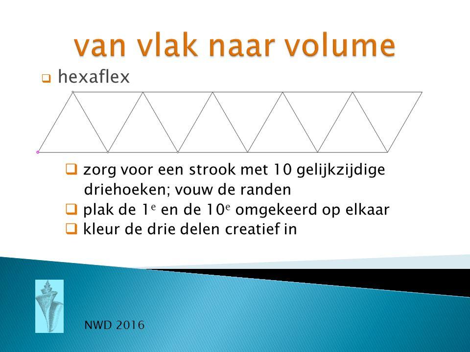 van vlak naar volume hexaflex