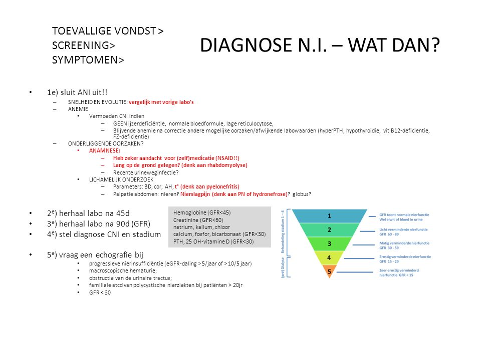 DIAGNOSE N.I. – WAT DAN TOEVALLIGE VONDST > SCREENING>