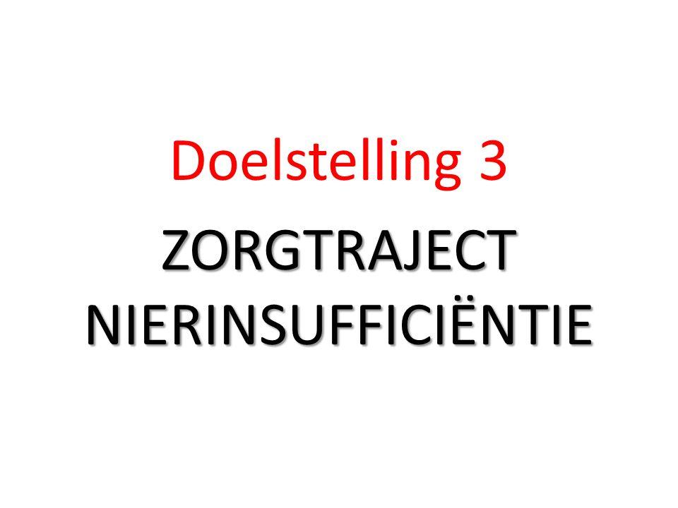 Doelstelling 3 ZORGTRAJECT NIERINSUFFICIËNTIE