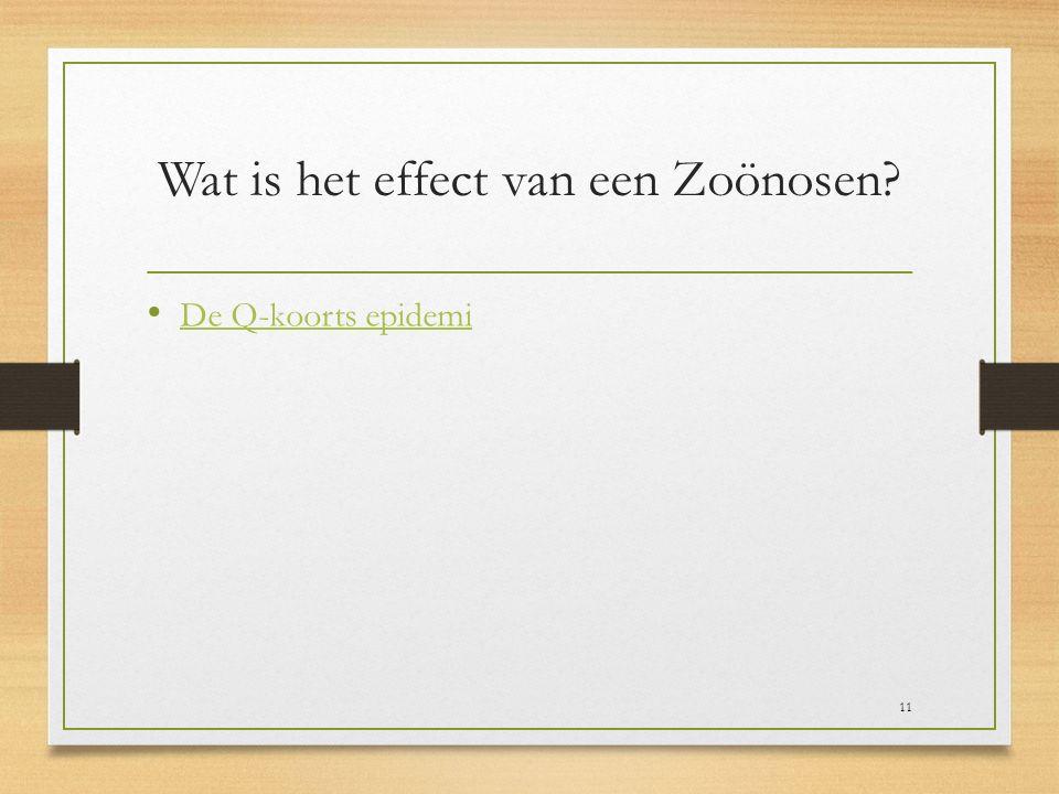 Wat is het effect van een Zoönosen