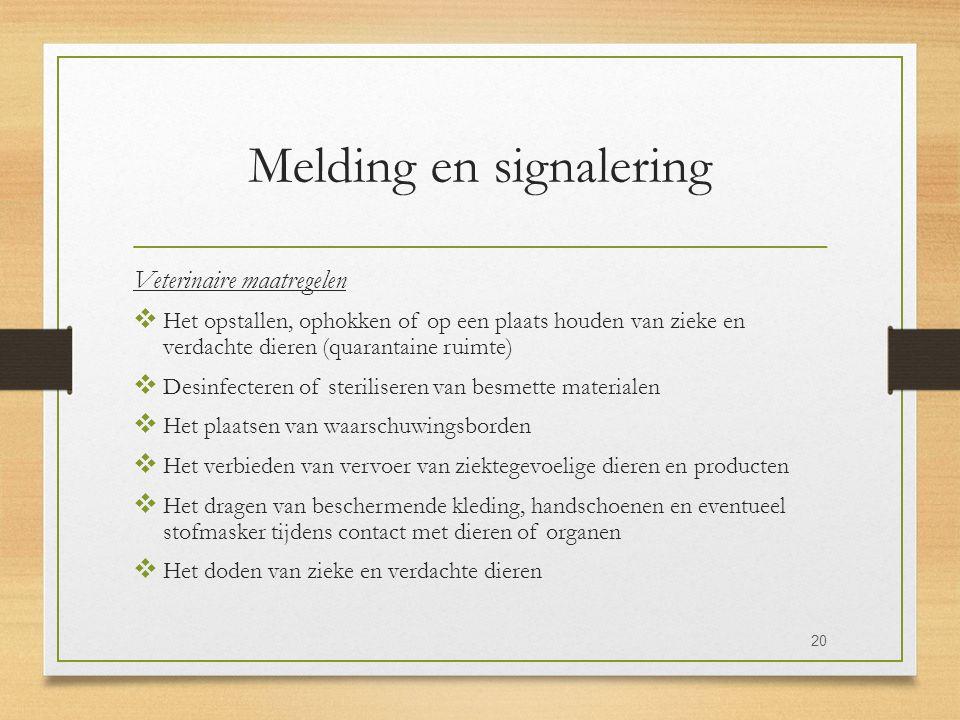Melding en signalering