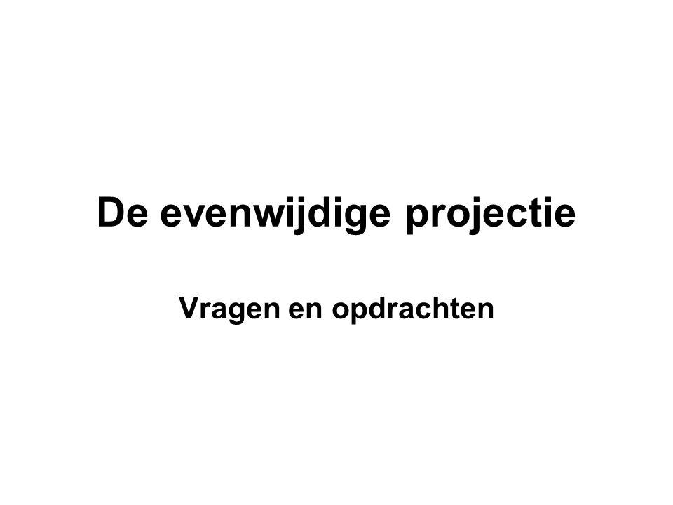 De evenwijdige projectie
