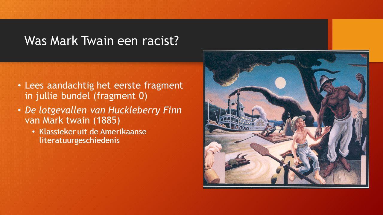 Was Mark Twain een racist