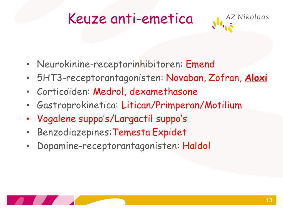Keuze anti-emetica Neurokinine-receptorinhibitoren: Emend