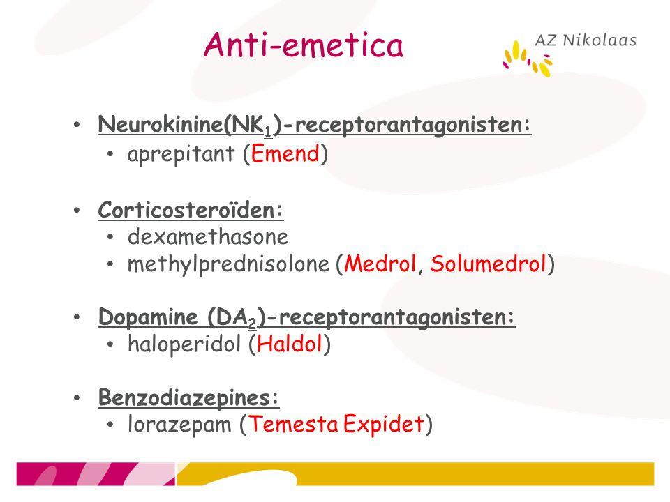 Anti-emetica Neurokinine(NK1)-receptorantagonisten: aprepitant (Emend)