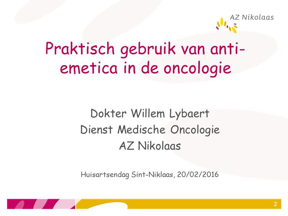Praktisch gebruik van anti-emetica in de oncologie