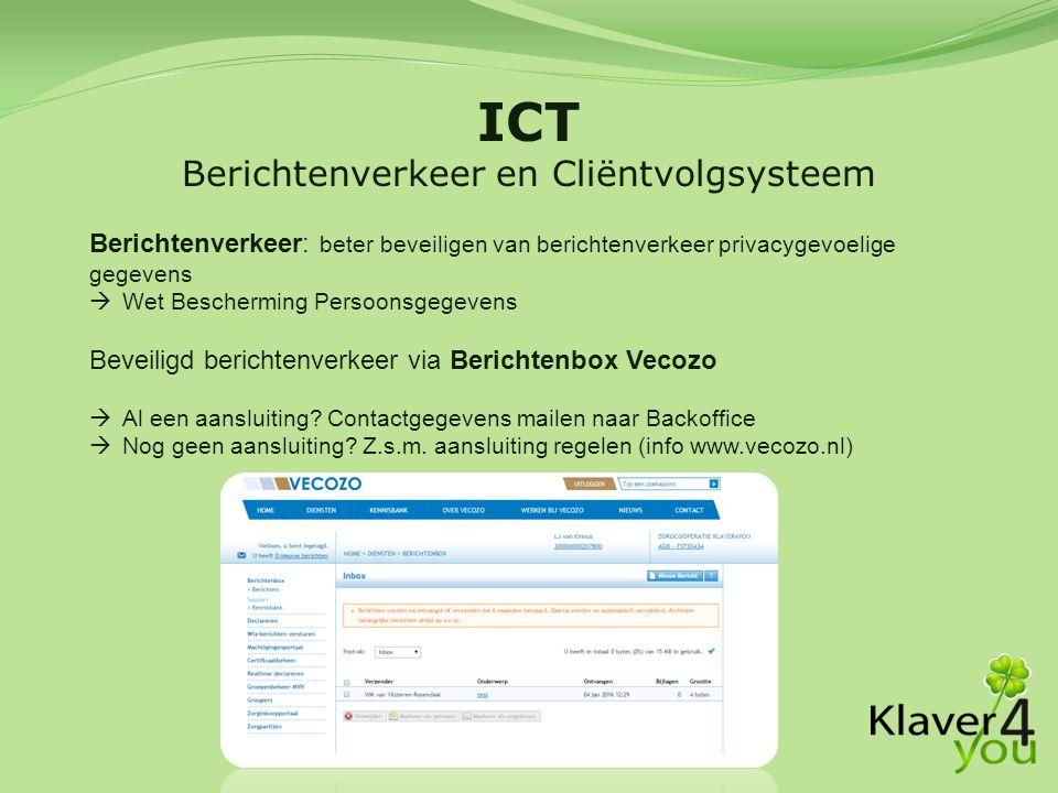 Berichtenverkeer en Cliëntvolgsysteem