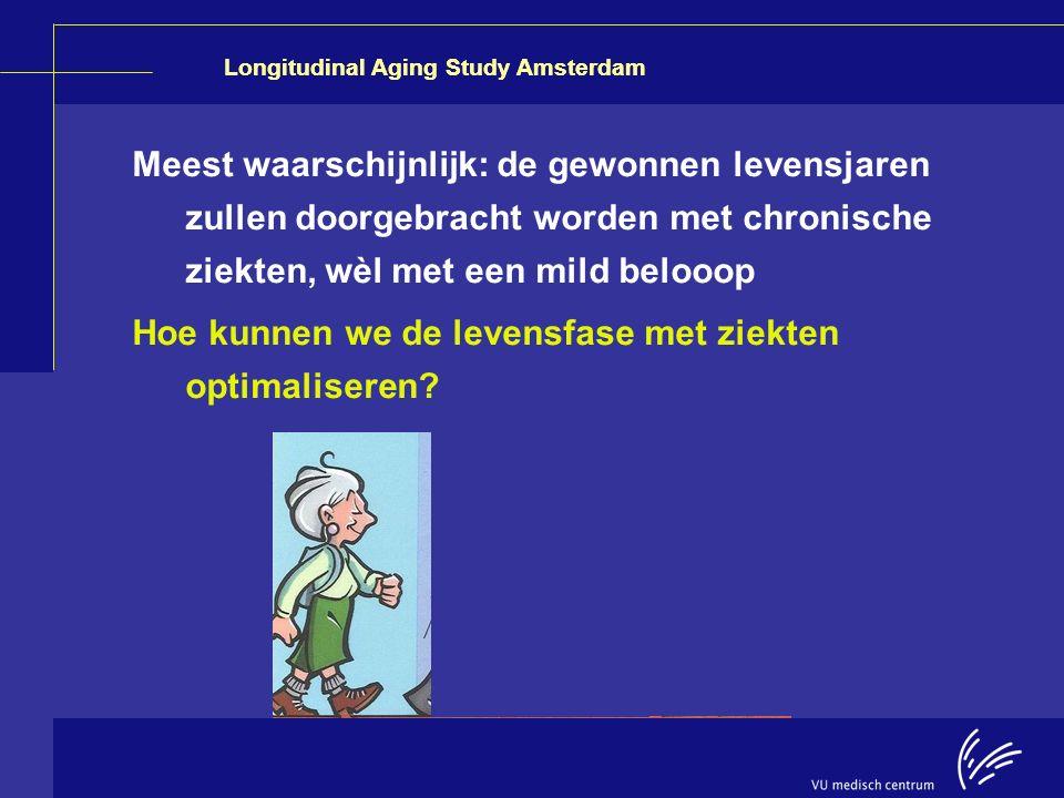 Meest waarschijnlijk: de gewonnen levensjaren zullen doorgebracht worden met chronische ziekten, wèl met een mild belooop