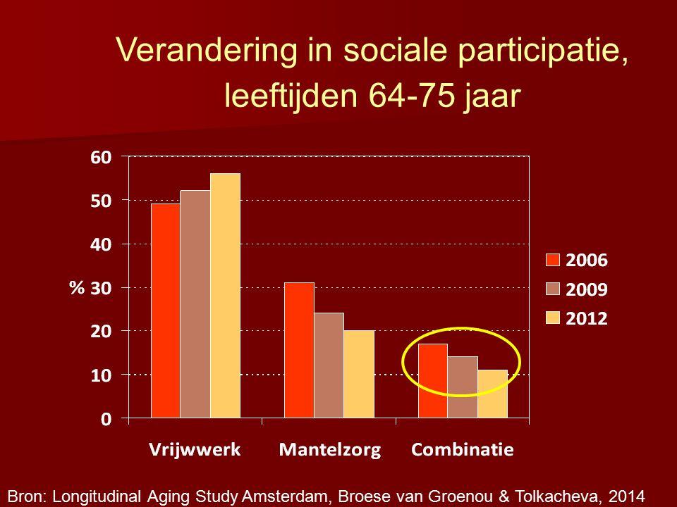 Verandering in sociale participatie,
