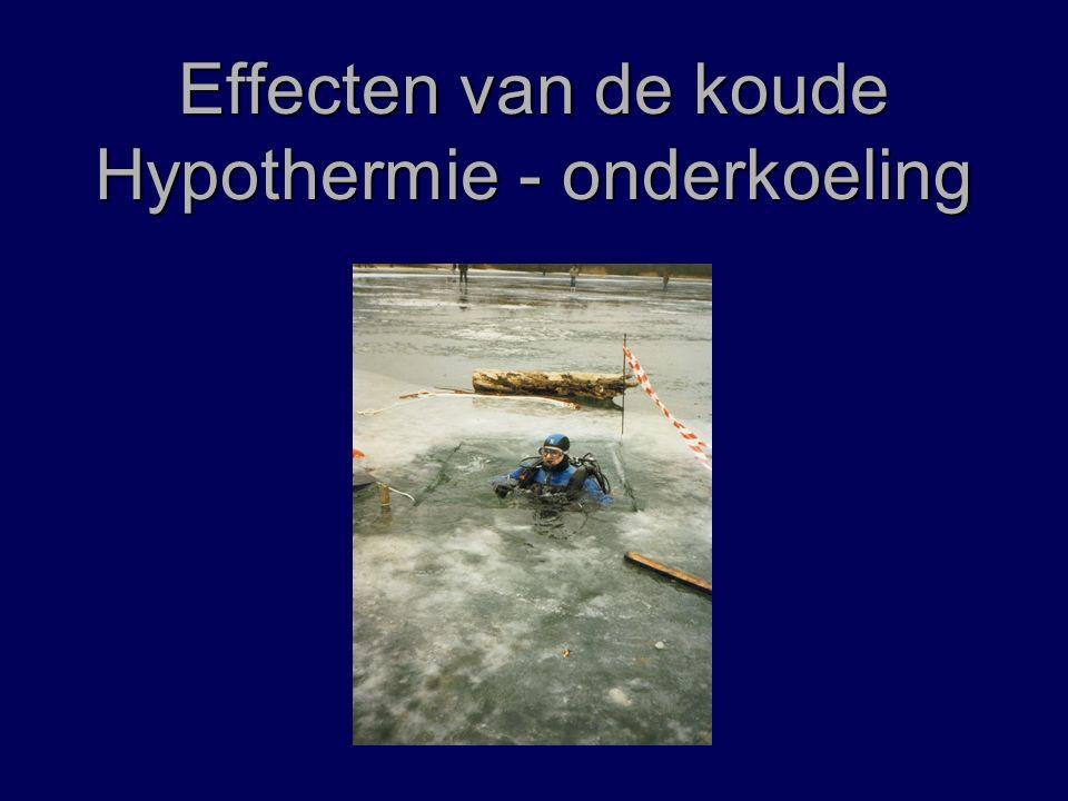 Effecten van de koude Hypothermie - onderkoeling