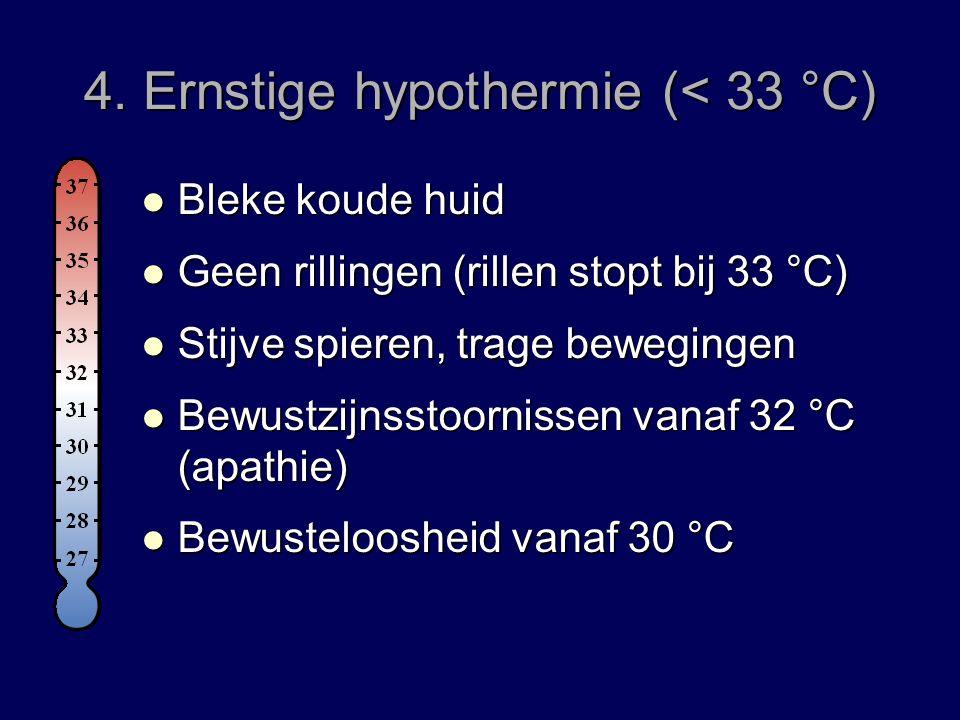 4. Ernstige hypothermie (< 33 °C)