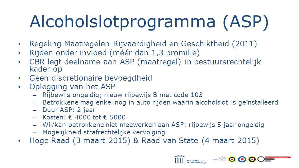 Alcoholslotprogramma (ASP)
