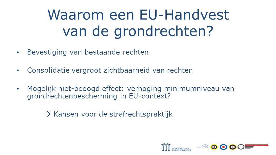 Waarom een EU-Handvest van de grondrechten
