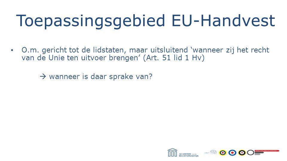 Toepassingsgebied EU-Handvest