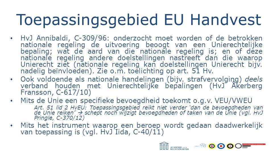 Toepassingsgebied EU Handvest
