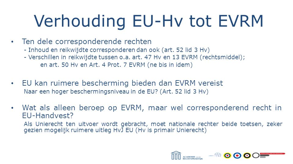 Verhouding EU-Hv tot EVRM