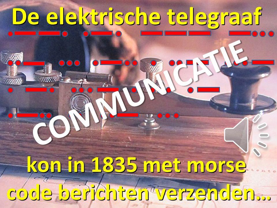 De elektrische telegraaf code berichten verzenden…