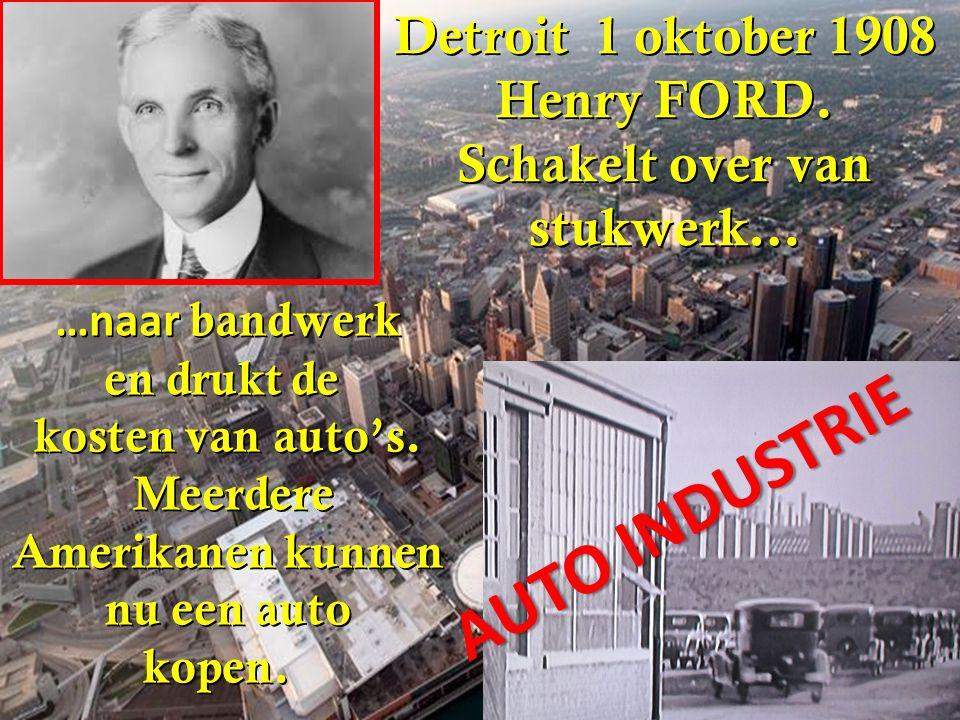 AUTO INDUSTRIE Detroit 1 oktober 1908 Henry FORD. Schakelt over van