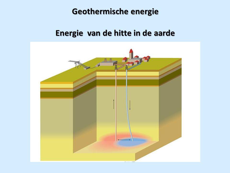 Geothermische energie Energie van de hitte in de aarde