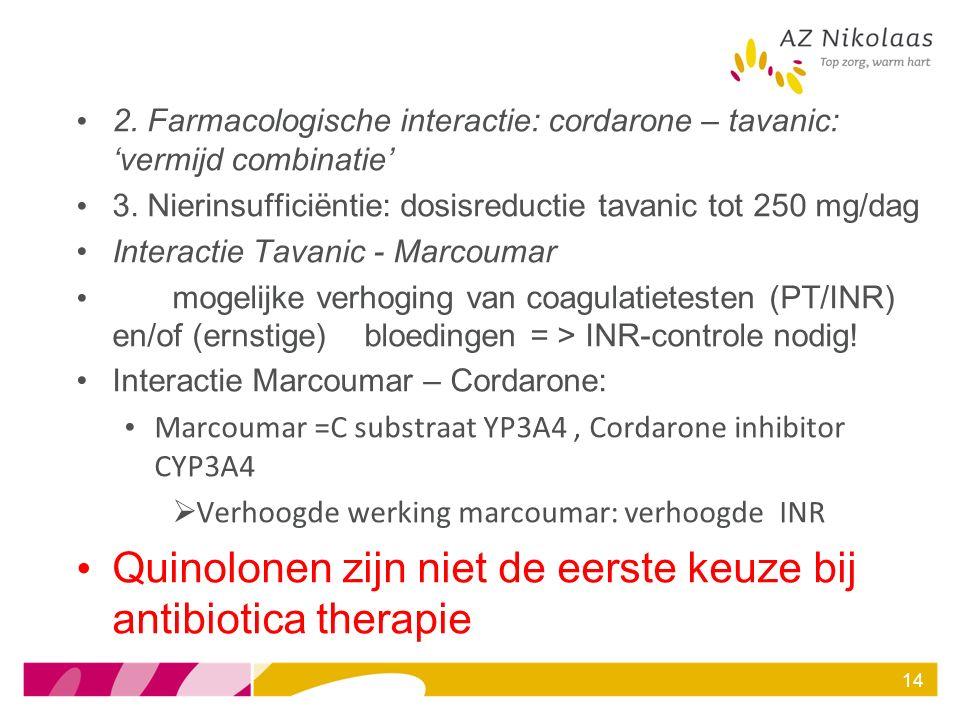 Quinolonen zijn niet de eerste keuze bij antibiotica therapie