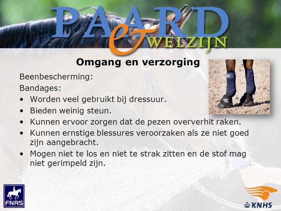 Omgang en verzorging Beenbescherming: Bandages: