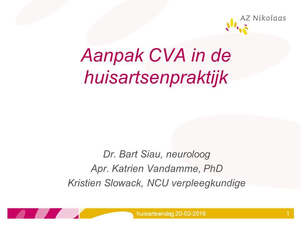 Aanpak CVA in de huisartsenpraktijk