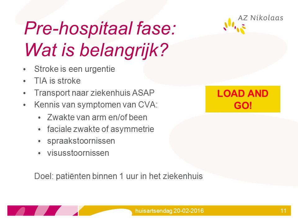 Pre-hospitaal fase: Wat is belangrijk