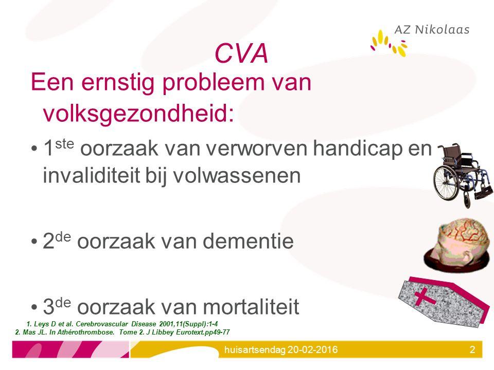 CVA Een ernstig probleem van volksgezondheid: