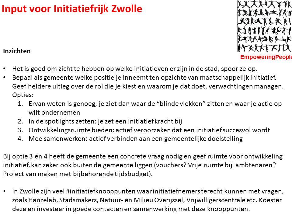 Input voor Initiatiefrijk Zwolle