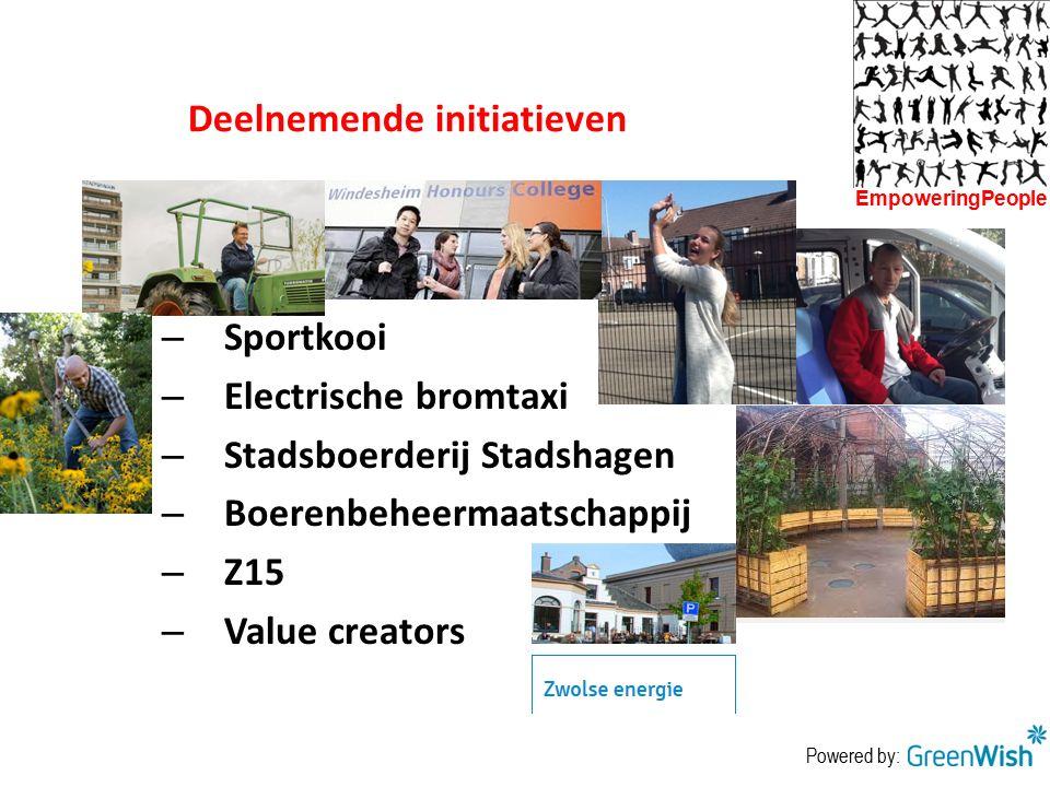 Deelnemende initiatieven
