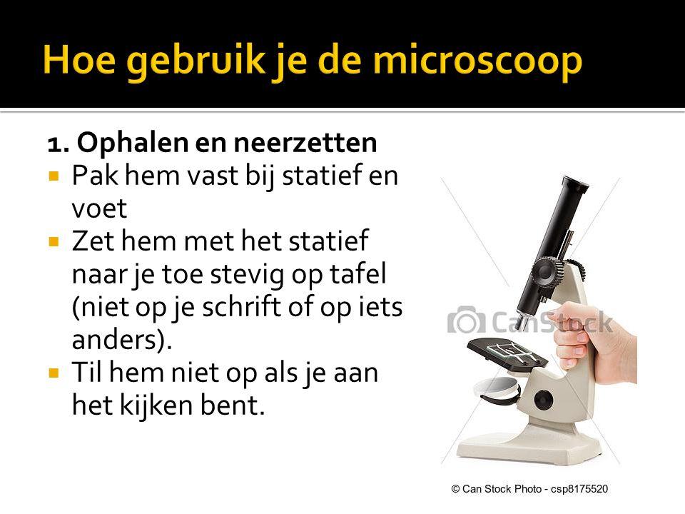 Hoe gebruik je de microscoop
