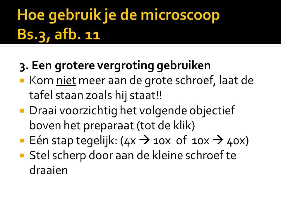 Hoe gebruik je de microscoop Bs.3, afb. 11