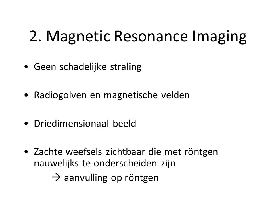 MRI apparaat